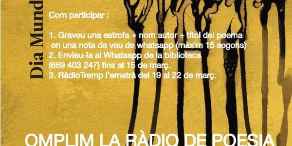 Omplim la Ràdio de Poesia