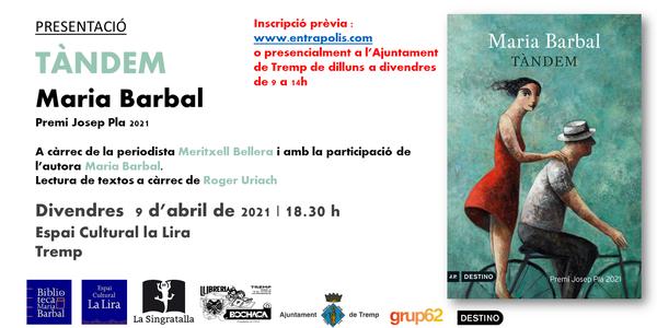 Presentació de la novel.la Tàndem de Maria Barbal