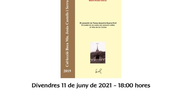 Presentació del  llibre guanyador de la 9a beca de recerca Mossèn Jesús Castells i Serra