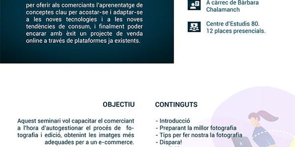 Seminaris de comerç: Obre't espai al mercat web!