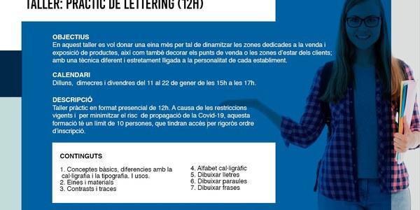 """Taller """"Lettering per al teu establiment"""" (12h)"""