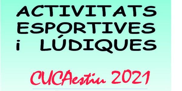 Activitats esportives i lúdiques estiu 2021