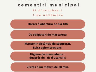 Aquesta setmana l'Ajuntament posa en marxa un dispositiu especial en motiu de Tots Sants