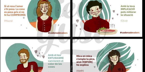 Cadena de valors, una campanya de sensibilització per estimular la venda de productes del Pallars