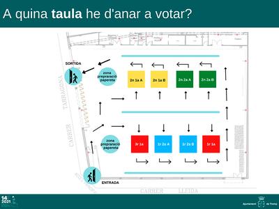 Consulta a quina mesa electoral has de votar