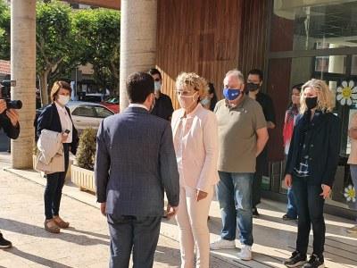 El President de la Generalitat, Pere Aragonés, visita l'Ajuntament de Tremp