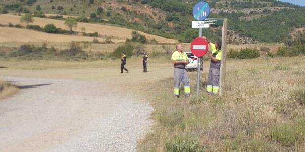 Es tanquen els accessos principals dels espais naturals del municipi de Tremp per l'elevat risc d'incendi