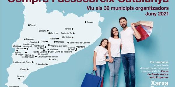 La 11èna edició de la campanya de la Xarxa de Barris Antics COMPRA I DESCOBREIX CATALUNYA arriba avui 1 de juny