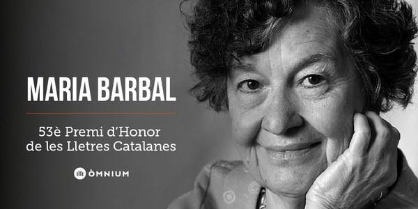 Maria Barbal, 53è Premi d'Honor de les Lletres Catalanes