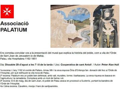Pintura mural, Palau vila Hospitalera 1162-1851