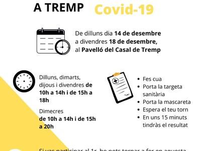 Segon cribratge poblacional voluntari per detectar nous casos de Covid-19 a Tremp